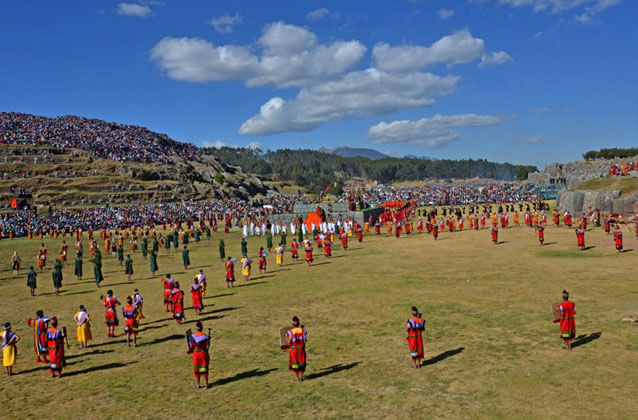 Inti Raymi ticket in green section. Economy seats.