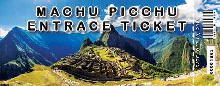 Official Machu Picchu ticket